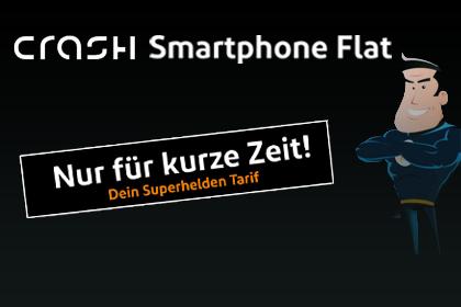 CRASH Smartphone Flat 1000 für 3,99€ im Monat - Vodafone Netz | kein Anschlusspreis | 1GB Daten | 100 Minuten