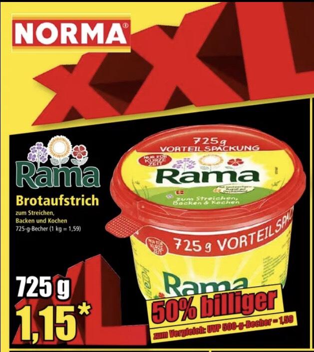 Rama Brotaufstrich 725g 1,15€ (Norma)