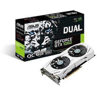 [Mindfactory] 6GB Asus GeForce GTX 1060 Dual OC Aktiv PCIe 3.0 x16 (Retail)
