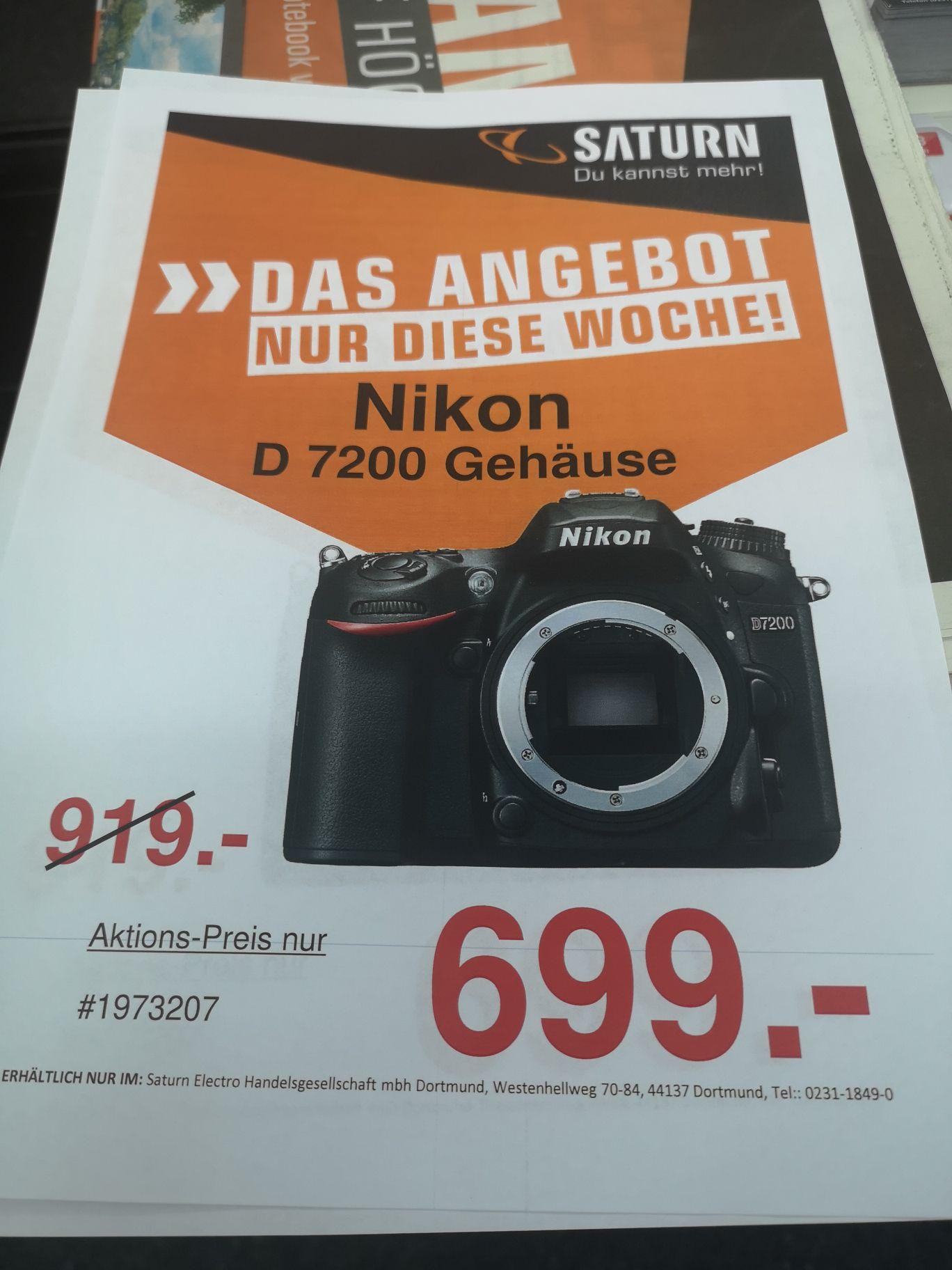 Lokal Nikon D 7200 Body Saturn Dortmund City