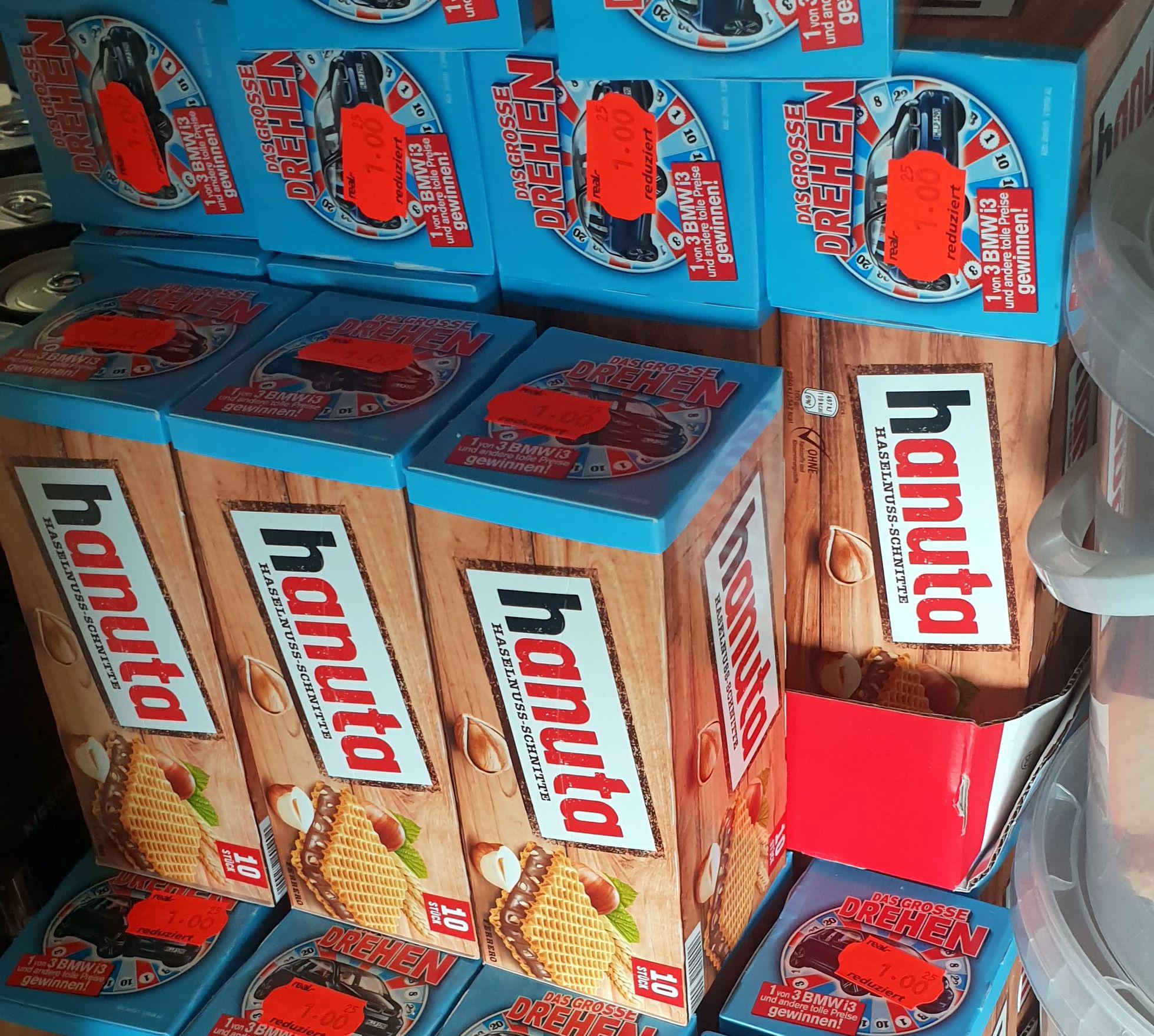 [Gross-Gerau] Real: 3er Ü-Eier / 10er Hanuta / Kinder Country / Nutella B-ready usw. für 1,00€