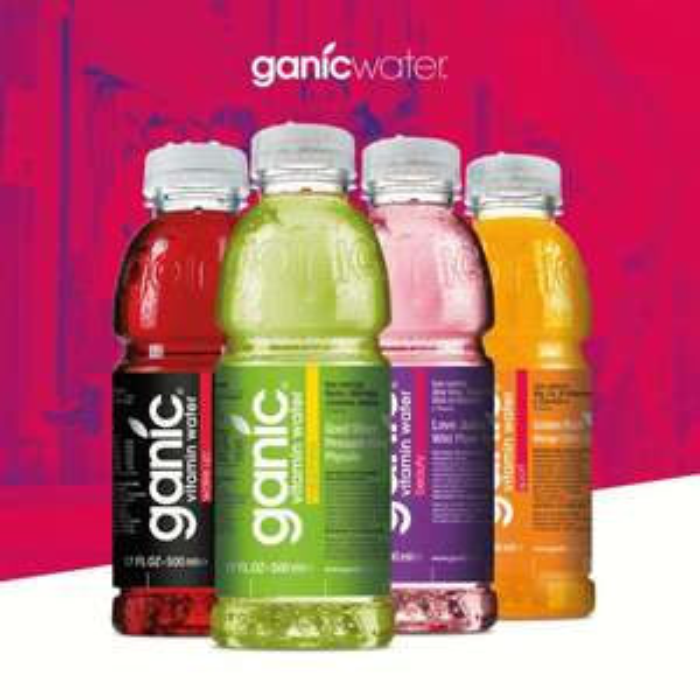 48 Flaschen Ganic Vitamin Wasser a 500ml (inkl. 12€ Pfand!)
