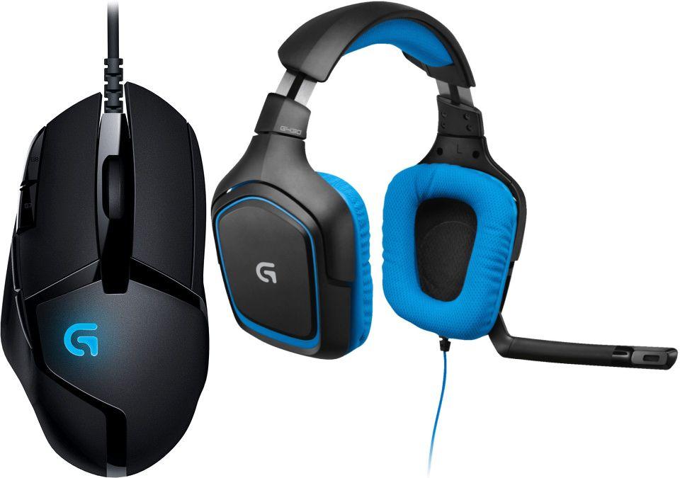 Logitech-Bundles: Maus G402 Hyperion Fury + Headset G430 für 66€ oder mit zusätzlicher Tastatur G910 Orion Spectrum für 149€