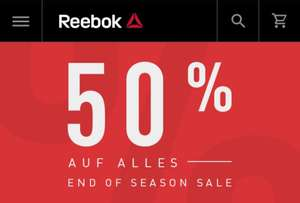 Reebok End of Season Sale 50% Rabatt auf Alle End of Season Sale Artikel im Online Shop!