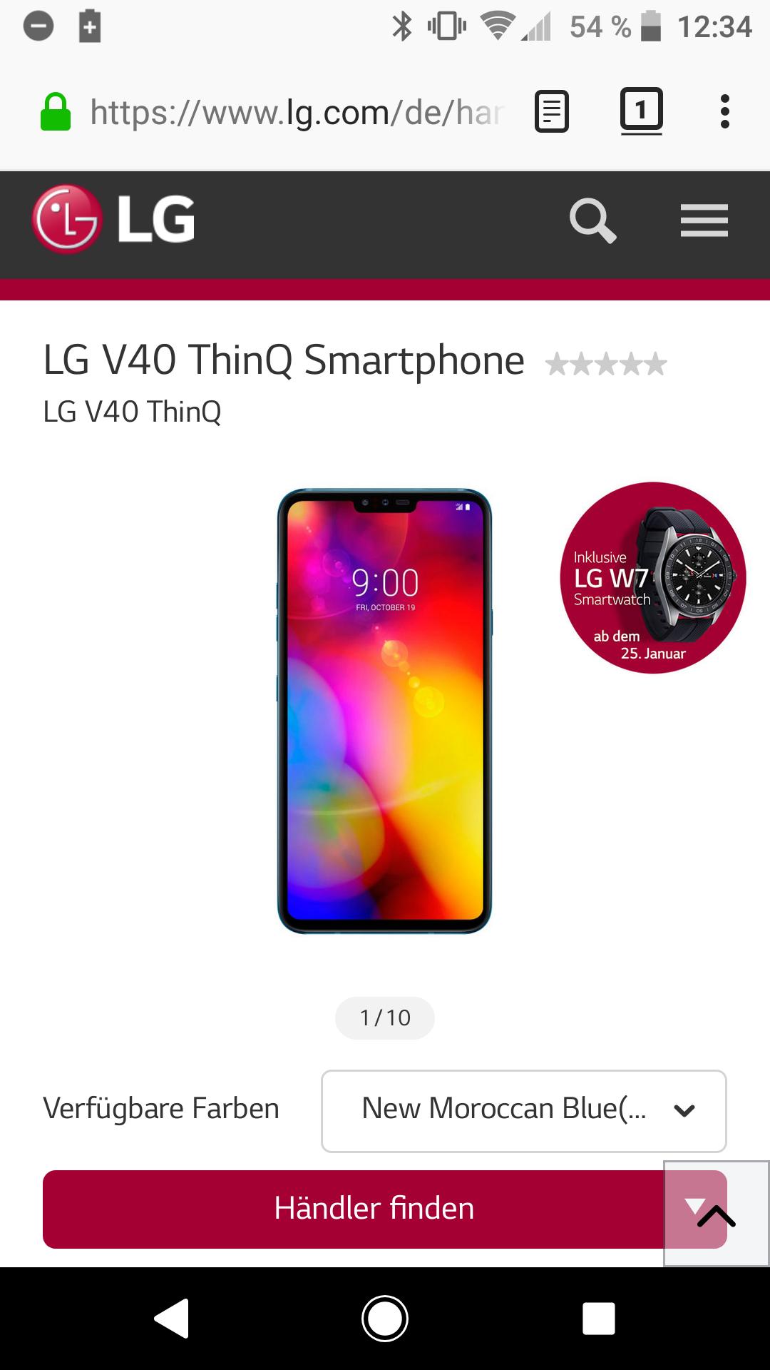LG V40 ThinQ inkl. LG W7