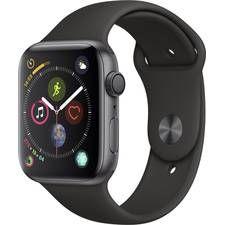 Apple Watch Sport Series 4 44mm Aluminiumgehäuse Spacegrau Sportarmband Schwarz