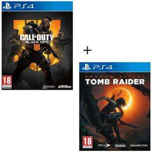 Call of Duty: Black Ops 4 + Shadow of the Tomb Raider (PS4) für 59,99€ (Cdiscount)