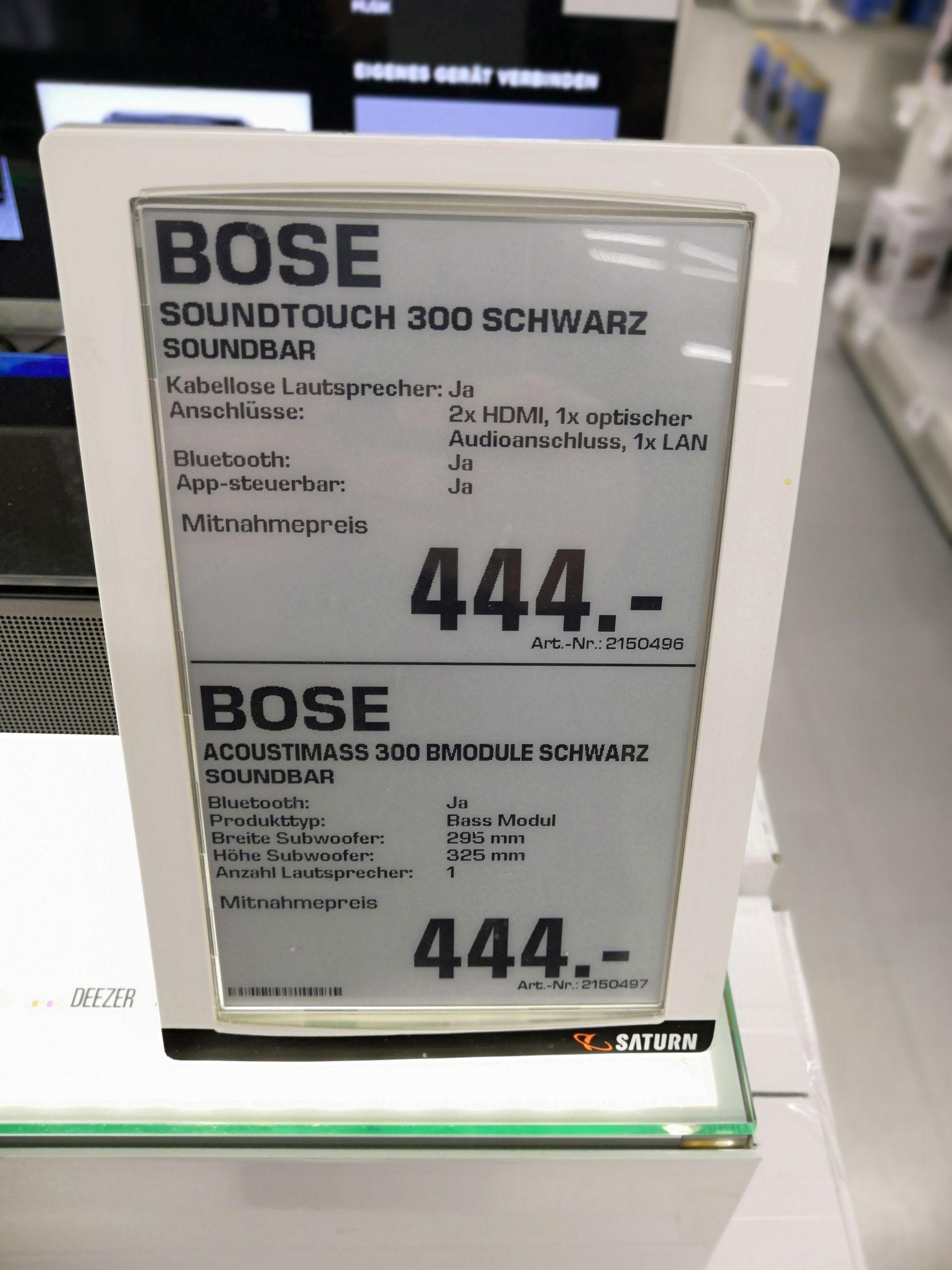 [Saturn lokal München] Bose Soundtouch 300,  acoustimass 300
