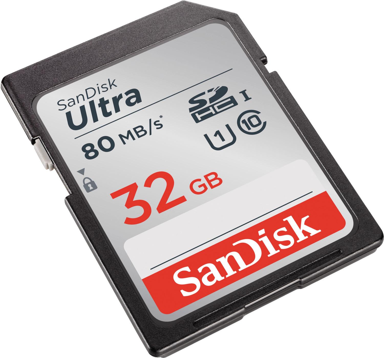 SanDisk Ultra 32GB SDHC Speicherkarte (bis zu 80 MB/Sek, UHS-I, Class 10) für 8€ versandkostenfrei (Media Markt)