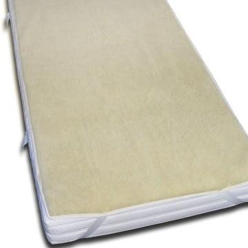 Schurwoll-Matratzenauflage 140 x 200cm | schont die Matratze, sorgt für besseres Schlafklima | ÖKO-TEX-Standard 100 | Made in Germany