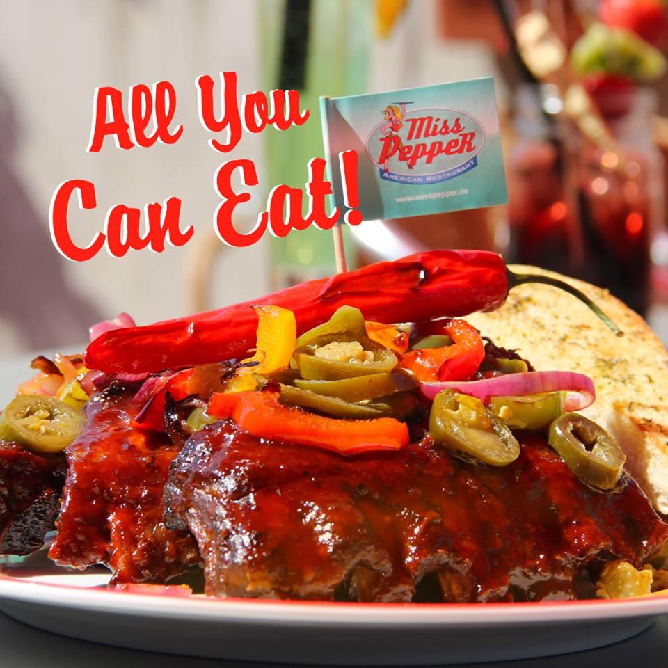 All You Can Eat für Spare Ribs nur 13,90€ bei Miss Pepper American Restaurants am 21. & 22.1.2019
