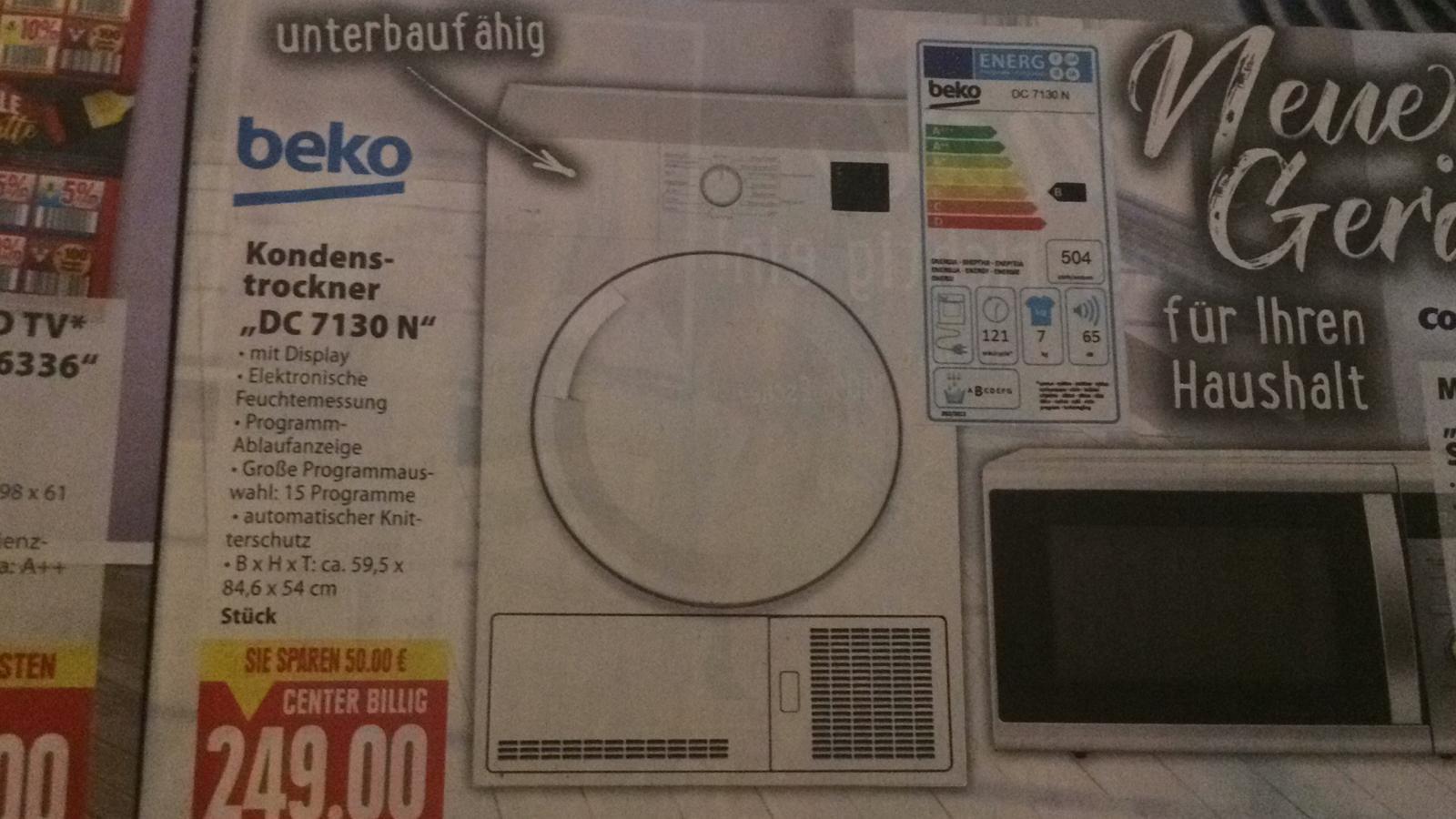 [Lokal Dissen a.T.W.] Beko DC7130N 7 kg Kondenstrockner