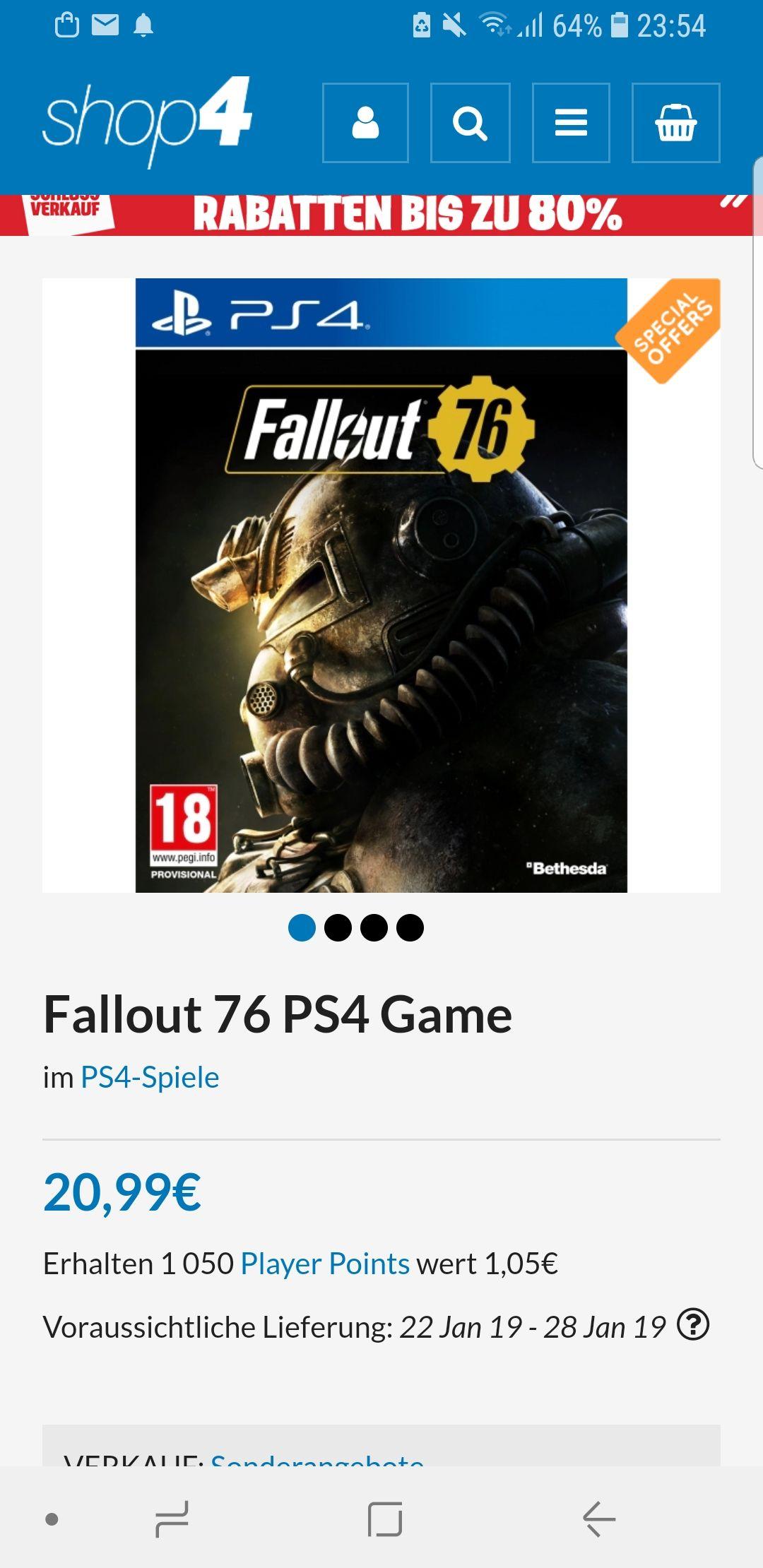 Shop4de.com Fallout 76 PS4 Game