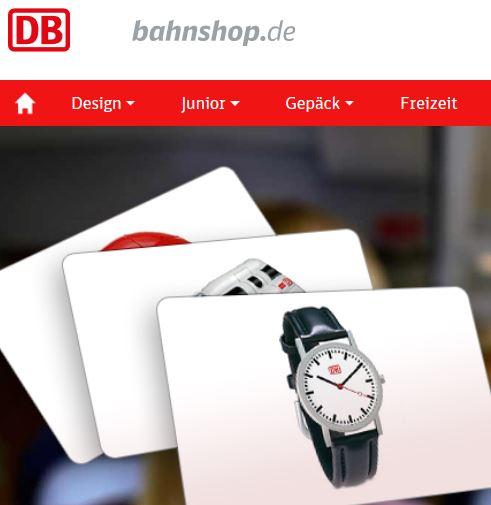 bahnshop.de - Deutsche Bahn Shop - 10% Gutschein
