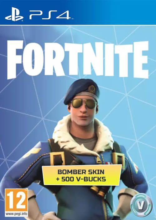 Fortnite Bomber Skin + 500 V Bucks PS4 Code