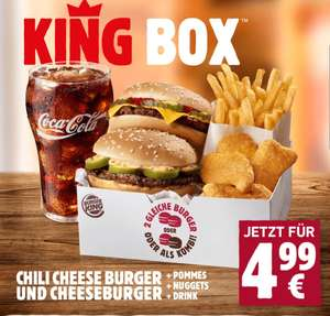 Burger King - King Box u.a. mit Chili Cheese Burger und Cheeseburger