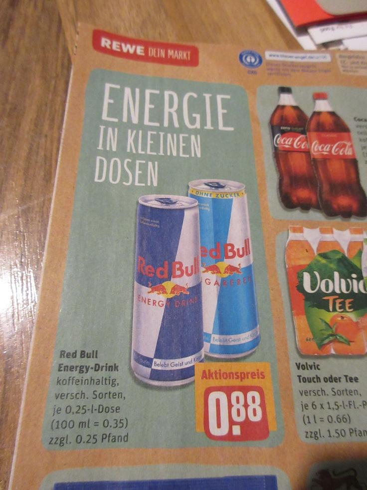 REWE - Red Bull - 0,88 Euro / Oettinger Pils 5,99 Euro
