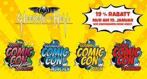 German Comic Con & Weekend of Hell Conventions 19% Rabattaktion