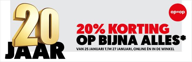 (Niederlande) Mediamarkt NL 20 Jahre und 20% Rabatt fast auf alles online und alle märkte. Versand nur nach NL adresse.
