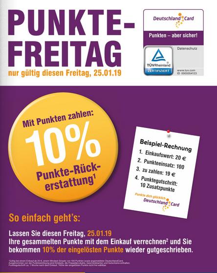 [Netto MD] Deutschlandcard 10% Punkte-Rückerstattung am Freitag den 25.01. (+1 EUR GoldCoupon und 5fach Punkte)