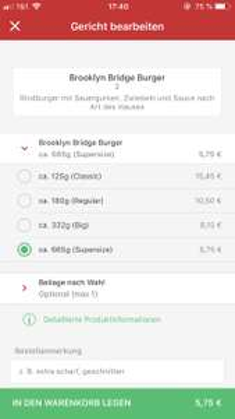 [Lokal Kassel Lieferheld] Prei-s-fehler bei Wall Street Burger