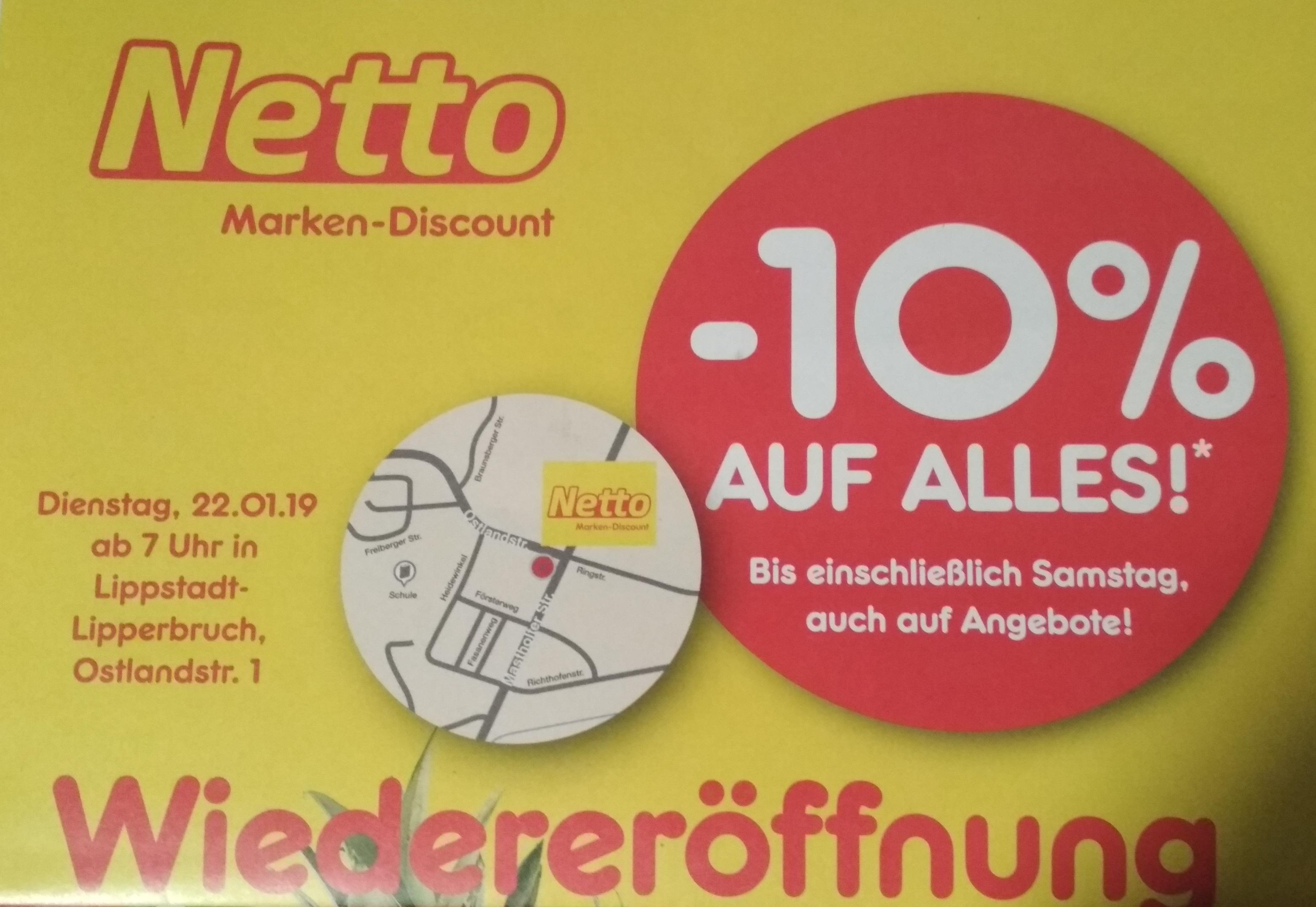 [Netto MD] Lokal Lippstadt -10% auf alles, z.B. Hohes C 1l für 80 cent oder Kiste Krombacher für 9,36€