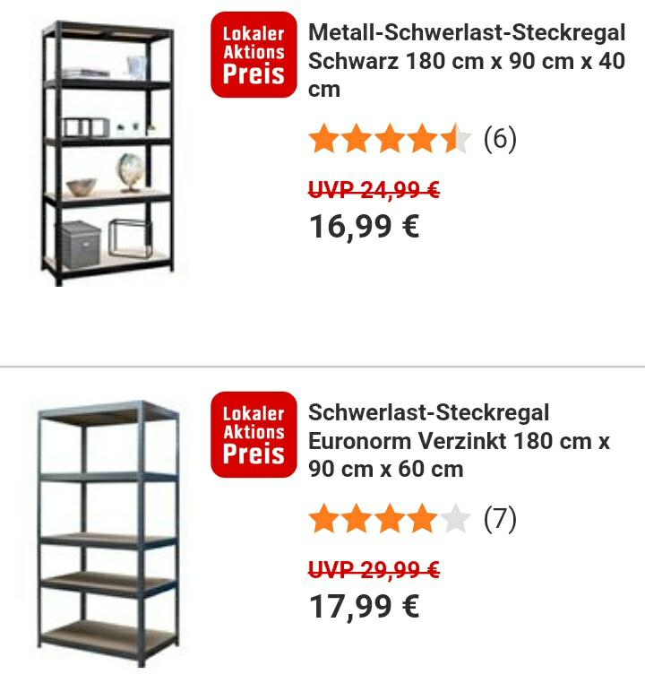 [Lokal] Obi Würzburg: Schwerlast-Regal Euronorm 180 x 90 x 60 cm (+ weitere Varianten)