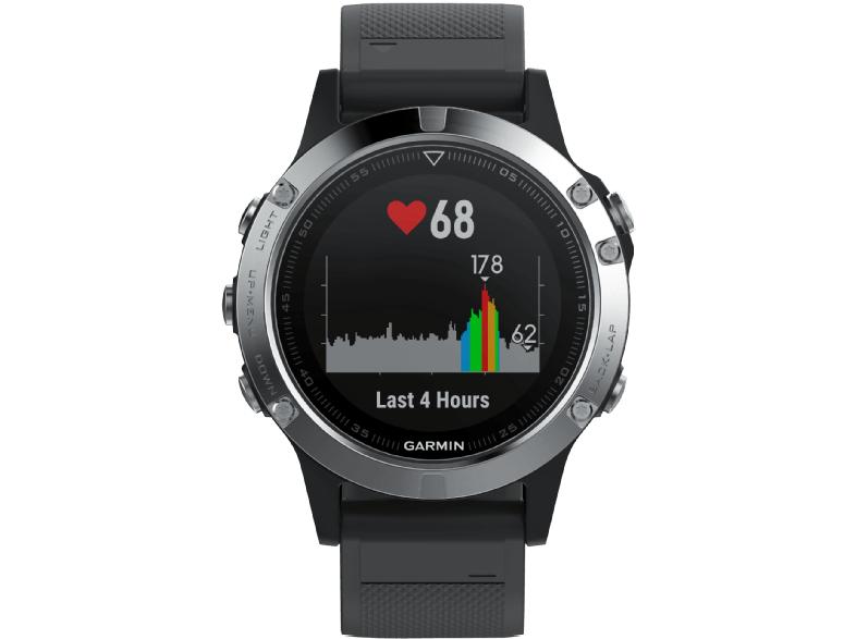 [Media Markt + Paypal] Garmin Fenix 5 Smartwatch Schwarz/Silber (Smartwatch)