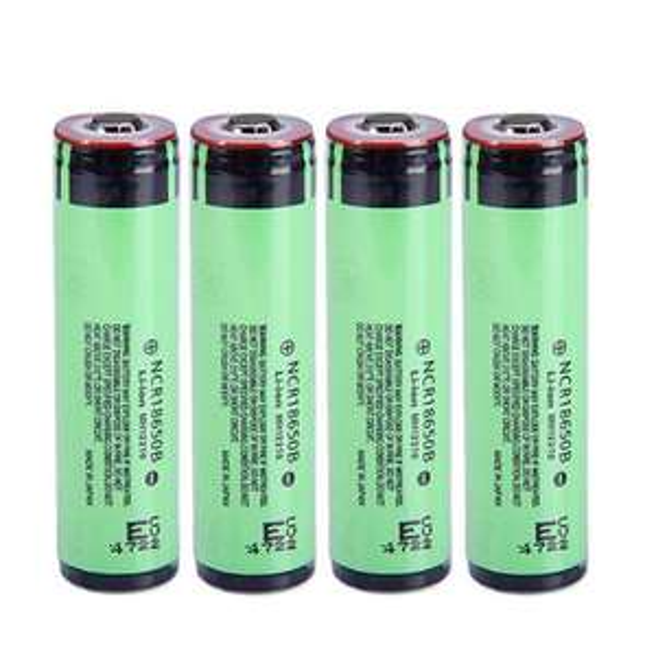 4x NCR18650B 3400mAh Protected Battery, 18650 Batterie (Stückpreis 4,58€)