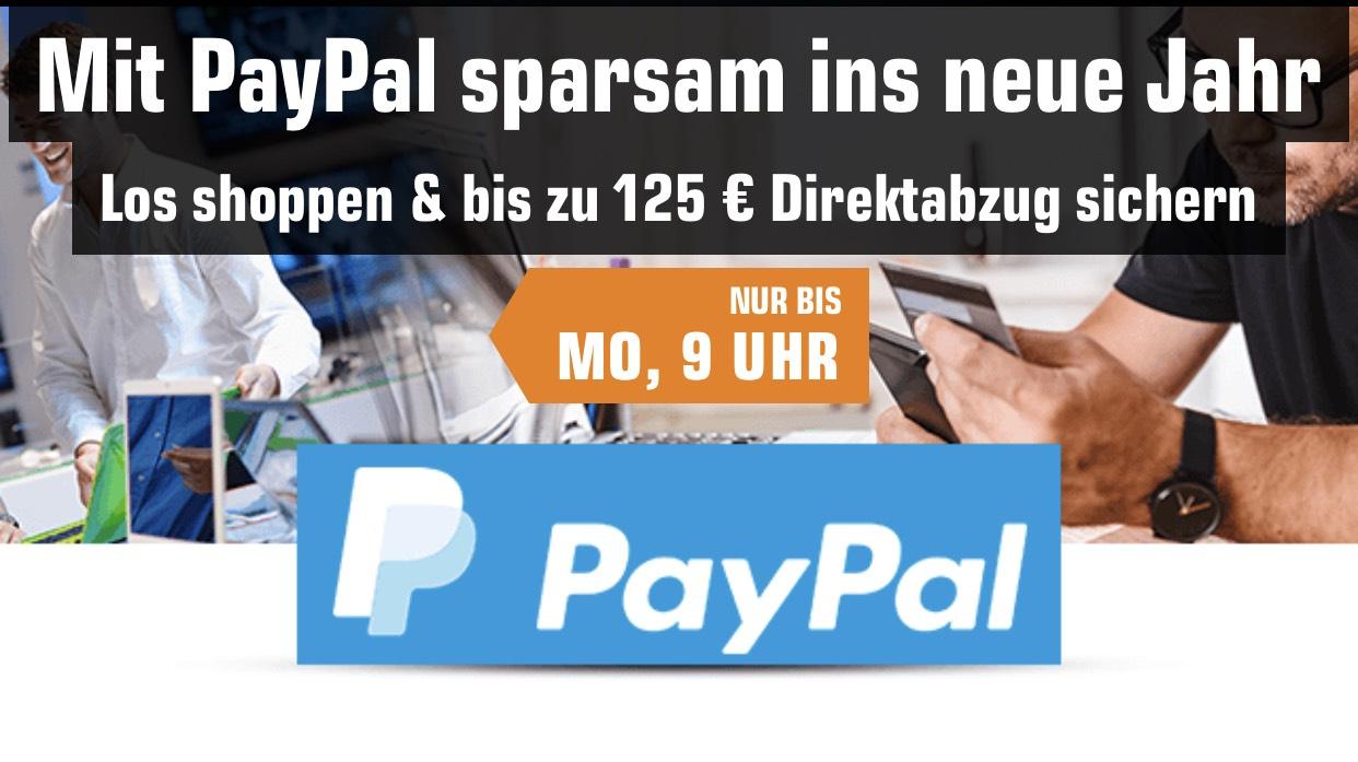 Saturn und Paypal bis zu 125€ sparen