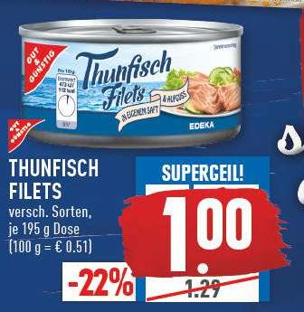 Thunfisch bei Edeka  (bundesweit)