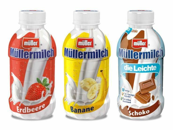 Müllermilch zum halben Preis - verschiedene Sorten in der 400ml Flasche