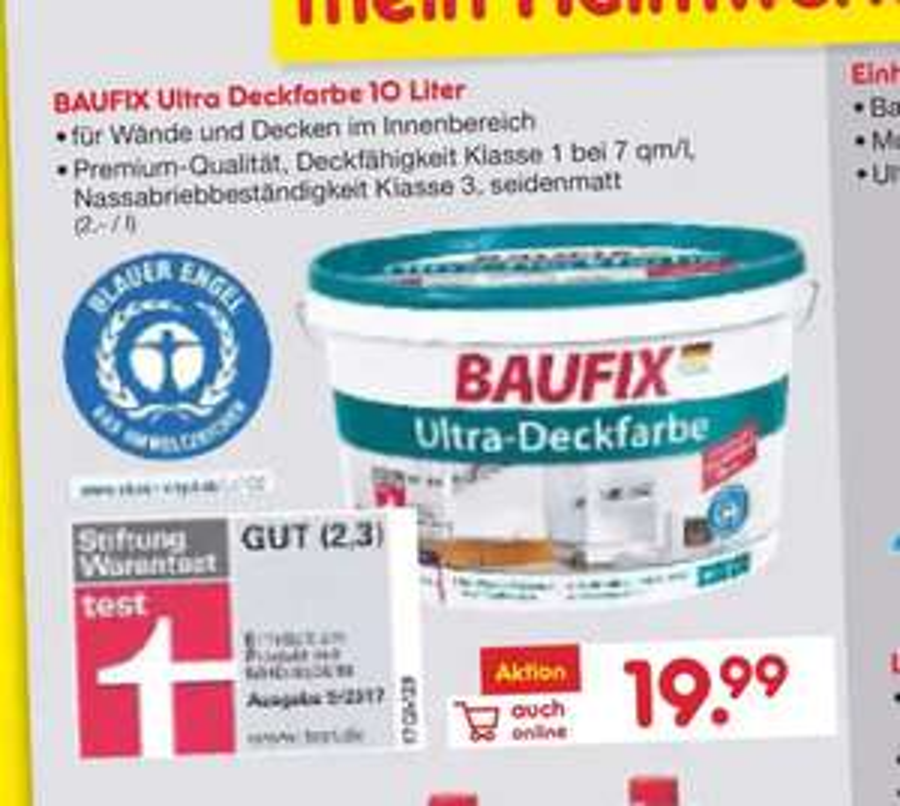[real] Baufix Ultra Deckfarbe 10L