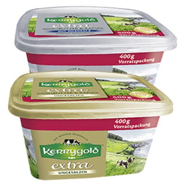 """Aldi Süd Kerrygold """"Kreation aus  irischer Butter mit Rapsöl veredelt"""" in der 400g XXL Packung gesalzen und ungesalzen ab Freitag 25.01.19"""