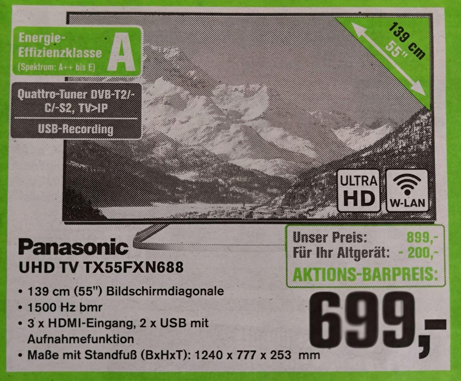 [Lokal Saarland, Stuttgart, Leipzig] Panasonic TX55FXN688 Alpahtecc