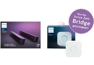 PHILIPS Hue White and Color Ambiance Play Lightbar Doppelpack inkl. Hue Bridge inkl. Versand