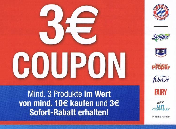 [Procter & Gamble] 3,00 € Sofortrabatt beim Kauf der abgebildeten Produkte im Wert von 10,00 €