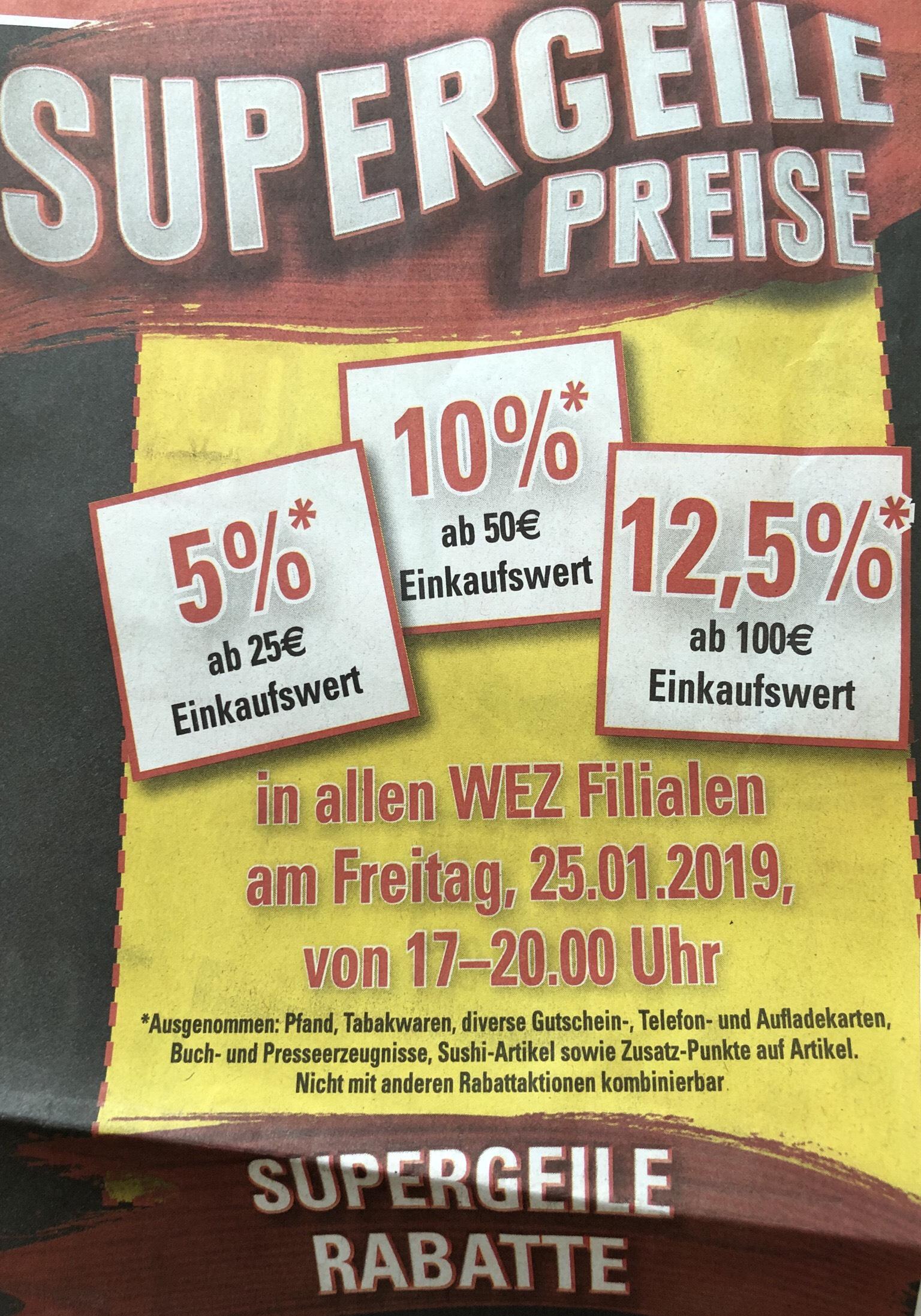 [lokal Minden] WEZ am Freitag Kiste Becks 9.18€ und bis zu 12,5% auf den gesamten Einkauf