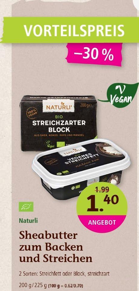 Naturli Sheabutter Margarine - Denns biomarkt und BioMarkt Verbund - Deutschlandweit