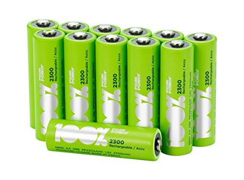 Peakpower, wiederaufladbare AA-Batterien, 2300 mAh, 12 Stück, vorgeladen, LR6 NiMH für 10,69 € > [amazon.de] > Prime