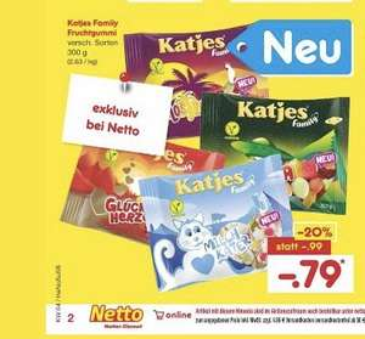 Katjes Fruchtgummi 300g Family Pack 0,79€ (Netto)
