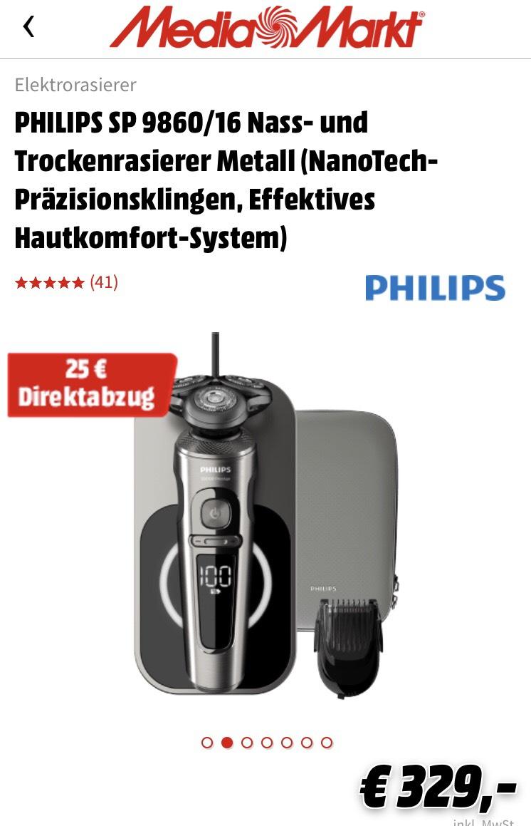 Philips Rasierer Premium SP 9860/16 Series 9 (Paypal + direktabzug)