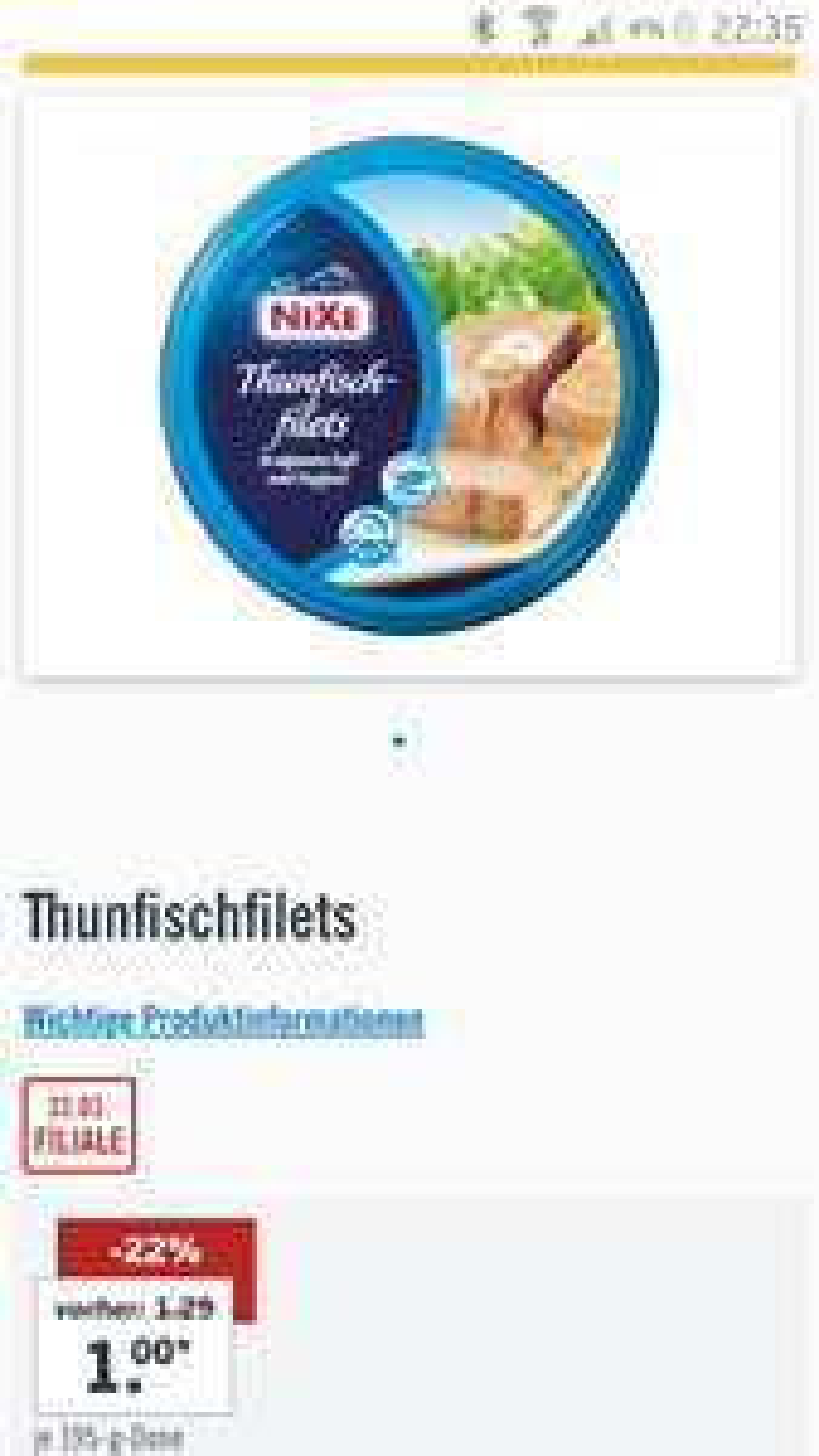 Lidl Thunfisch