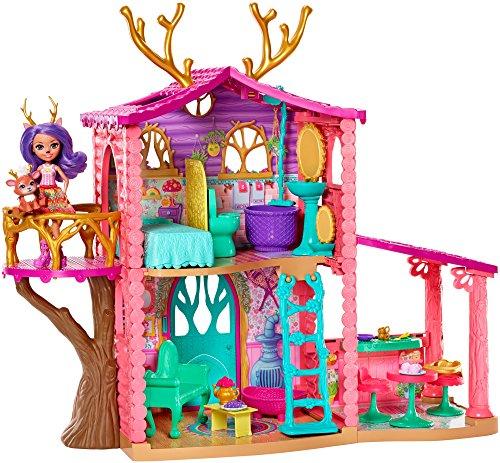[Amazon oder real] Enchantimals FRH50 - Rehmädchen Spielhaus mit Danessa Deer-Puppe und Tierfreund Sprint, Puppen Spielset und Puppenhaus