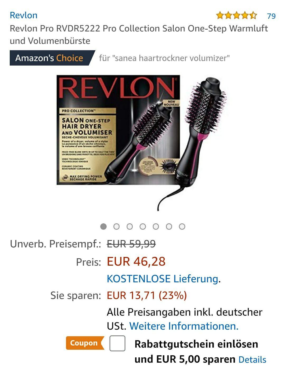 Revlon Haartrockner & Styler RVDR5222E (Lieferung 1 bis 2 Monate, dafür Bestpreis)
