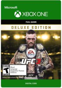 EA SPORTS UFC 3 Deluxe Edition (Xbox One Digital Code) für 17,94€ (Xbox Store US Live Gold)