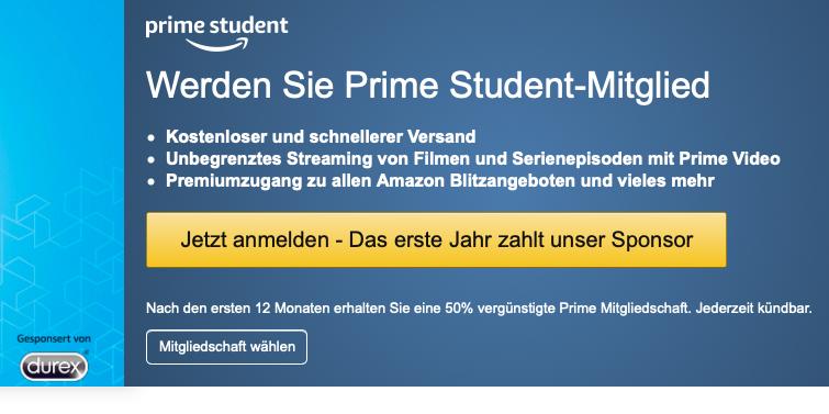 Nur für Studenten: 1 Jahr Amazon Prime gratis!