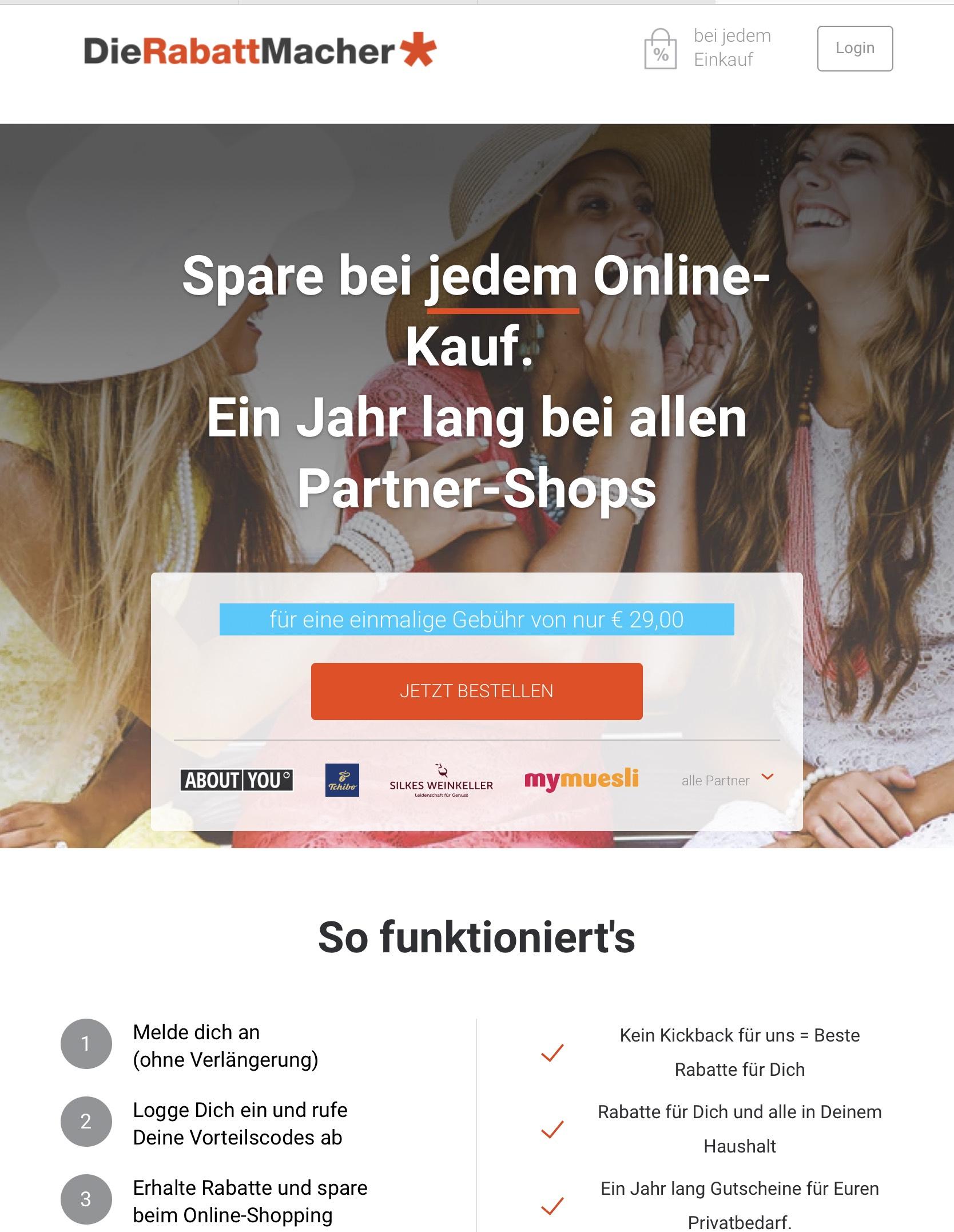 Gutschein-Portal Die-Rabatt-Macher - exklusive Gutscheincodes (einmalig 2,90€)
