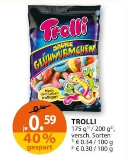 Müller: Trolli Saure Glühwürmchen für 0.49€ + Coupon