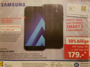 Samsung Galaxy A5 (2017), inkl. LIDL Connect Smart S - OFFLINE ab 31.01.
